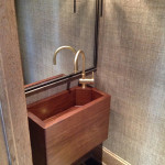 Walnut wooden sink