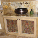 Handcrafted sink cabinet
