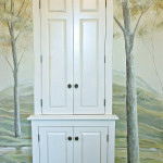 Bathroom storage doors