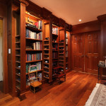 Hidden storage in bookcases