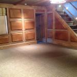 Entertainment room with hidden storage