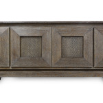 Cabinet with a duncan designed finish