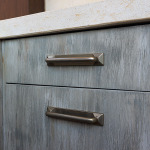 Outside kitchen cabinets detail