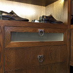 Shoe in his closet and duncan designed hardware
